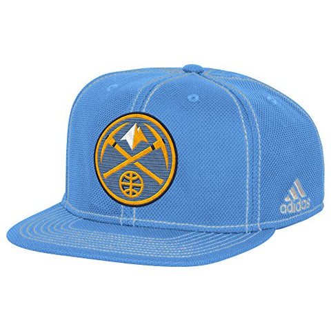 Adidas NBA Men's Denver Nuggets Lights out Flat Brim Snapback Cap