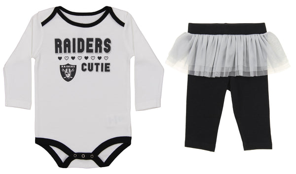 f87f37aa8 Outerstuff NFL Infant Girls Oakland Raiders Creeper Pant Set – Fanletic