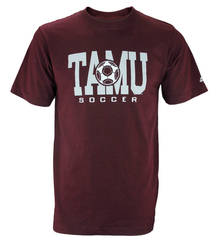 Adidas NCAA College Men's Texas A&M Aggies Short Sleeve TAMU Soccer T-Shirt