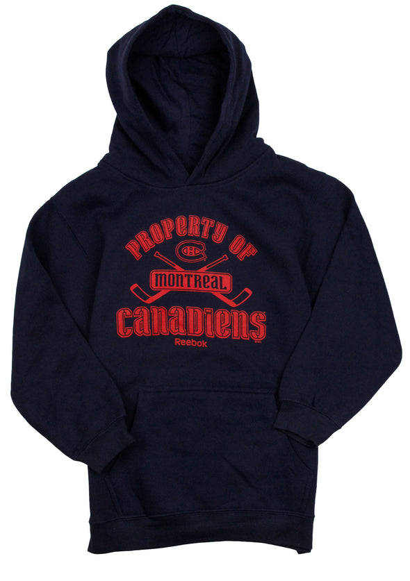 Reebok NHL Youth Boys Montreal Canadiens Pullover Sweatshirt Hoodie, Navy