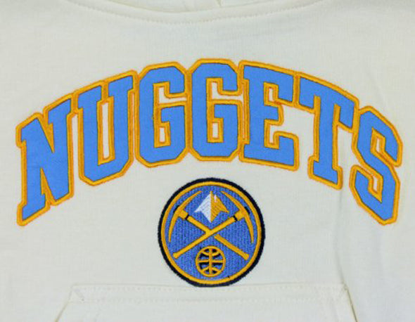 Outerstuff NBA Youth Girls Denver Nuggets Pullover Hoodie, Cream