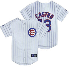on sale 904f2 35fda Majestic MLB Youth Chicago Cubs Starlin Castro #13 Home Replica Jersey,  White