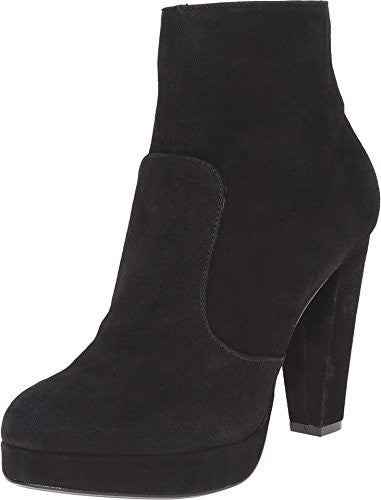 Steve Madden Women's Rancee Suede Heeled Boot, Black