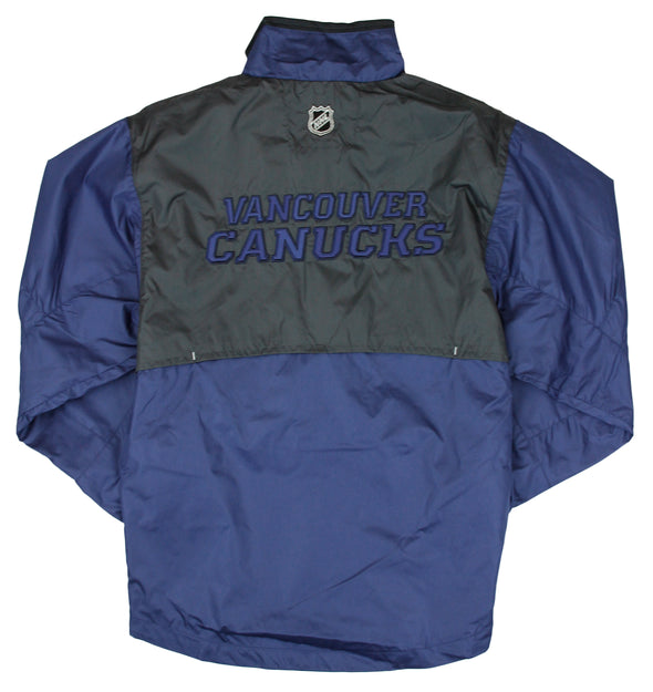Reebok NHL Hockey Youth Vancouver Canucks Craftman Hot Windbreaker Jacket - Navy