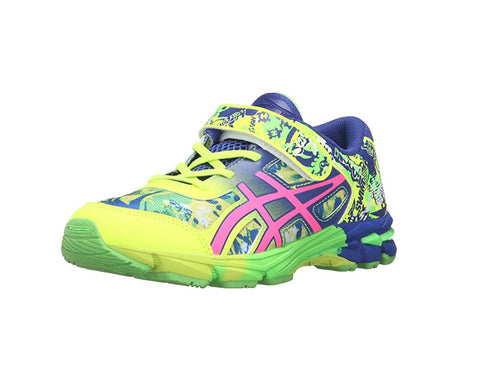 ASICS Gel-Noosa Kids Tri 11 PS Running Shoe, Safety Yellow/Pink Glow/Blue