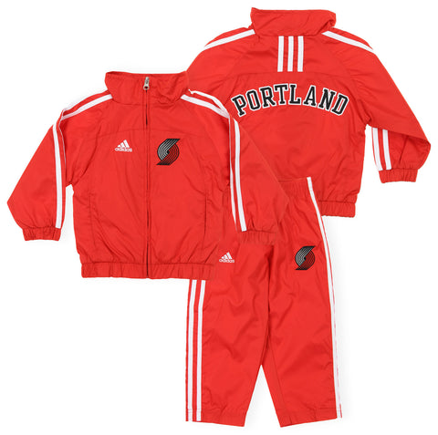 Adidas NBA Toddlers Portland Trail Blazers 2 Piece Windsuit Jacket and Pant Set