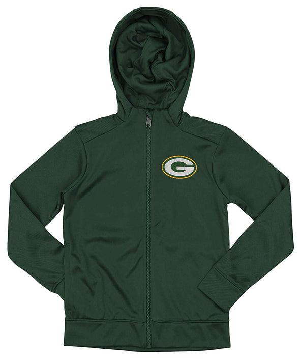 Outerstuff NFL Youth/Kids Green Bay Packers Performance Full Zip Hoodie