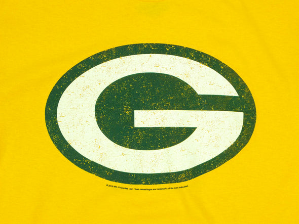 Green Bay Packers NFL Football Men's Primary Logo T-Shirt Top Tee, Gold