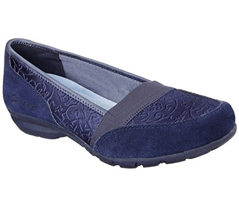 Skechers Women's Relaxed Fit Career Substitute Loafers Slip On Shoes - Navy