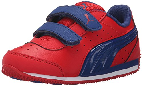 PUMA Speed Light Up V Kids Sneaker (Toddler/Little Kid/Big Kid) , High Risk R...
