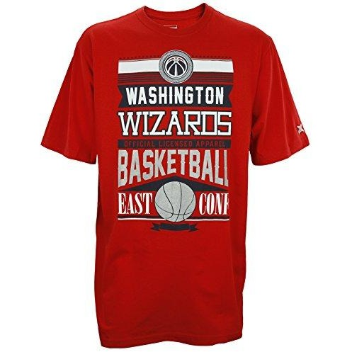 Zipway NBA Basketball Men's Big & Tall Washington Wizards Graphic Tee T-Shirt, Red