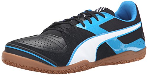 Puma Men's Invicto Sala Soccer Shoe, Black/White/Cloisonne