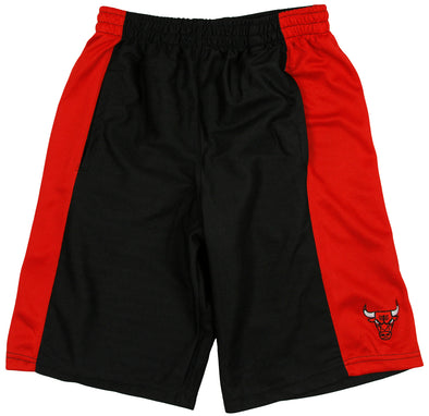 Zipway NBA Basketball Men's Chicago Bulls Basketball Shorts - Black / Red