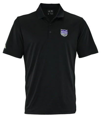 Adidas NBA Men's Sacramento Kings Performance Polo, Black