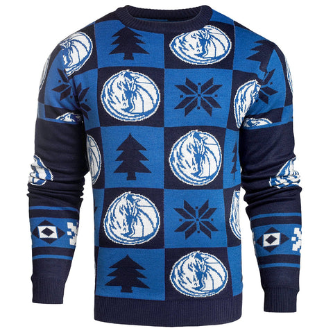 Forever Collectibles NBA Men's Dallas Mavericks 2016 Patches Ugly Crew Neck Sweater