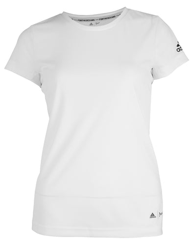 adidas Big Girls Youth Parley for The Oceans Climacool Tee, White