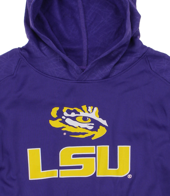 NCAA Youth LSU Tigers Performance Hoodie, Purple