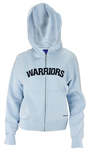 Reebok NBA Womens Golden State Warriors Full Zip Fleece Hoodie, Sky Blue