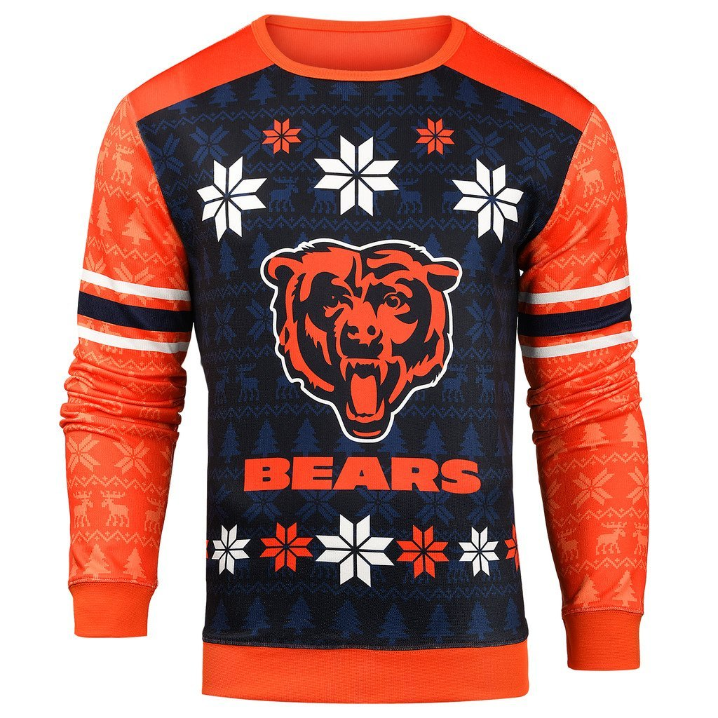 super popular 0d06a ae56a Forever Collectibles NFL Men's Chicago Bears Printed Ugly Sweater