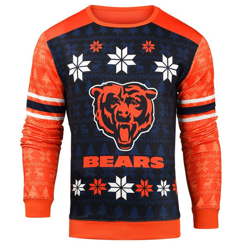 Forever Collectibles NFL Men's Chicago Bears Printed Ugly Sweater