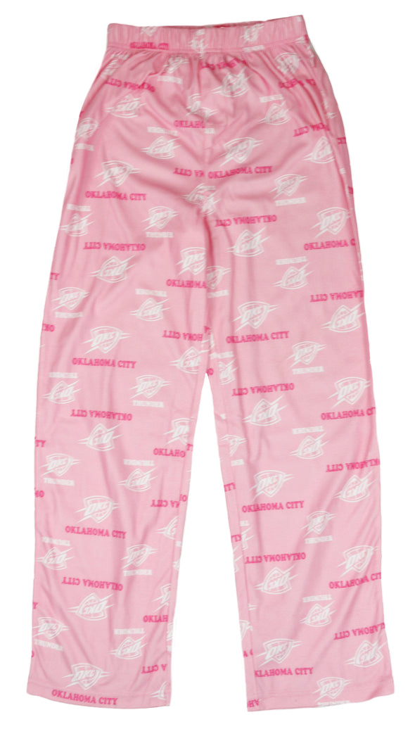 NBA Basketball Youth Girls Oklahoma City Thunder Lounge Pajama Pants, Pink