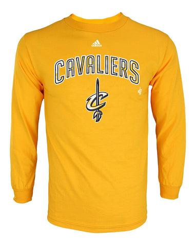 Adidas NBA Men's Cleveland Cavaliers Athletic Graphic Long Sleeve Tee, Gold