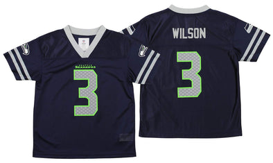 Outerstuff NFL Youth Seattle Seahawks Russell Wilson #3 Team Color Player Jersey