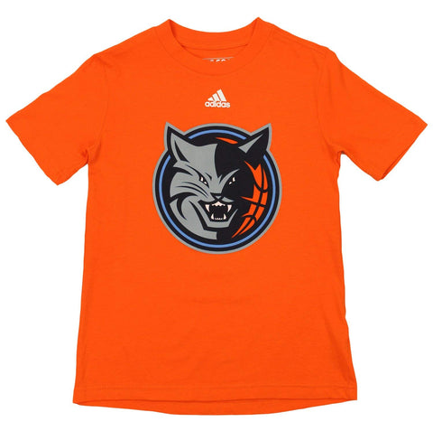 e4747fa4b Adidas NBA Youth Charlotte Bobcats Short Sleeve Primary Logo Tee, Orange