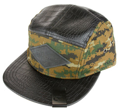 Flat Fitty Camo Snake Digi Strap Back Cap Hat - Many Colors