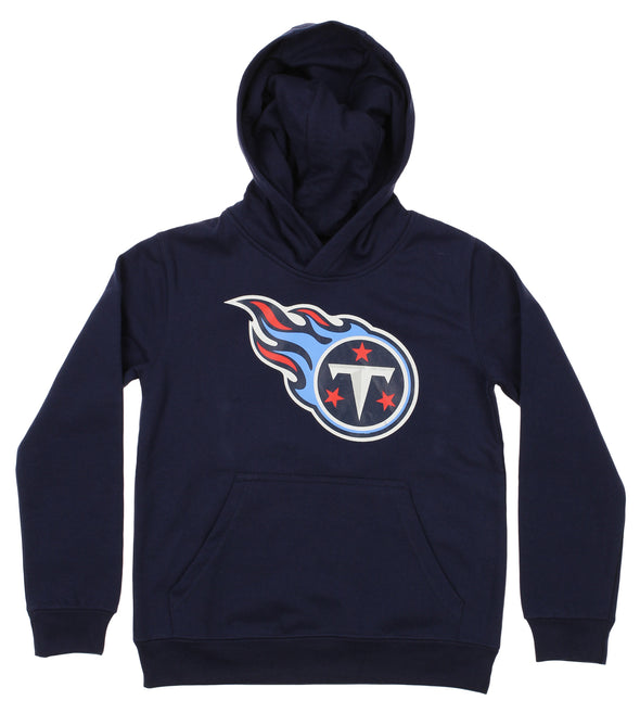OuterStuff NFL Youth Tennessee Titans Primary Team Logo Fleece Hoodie, Navy