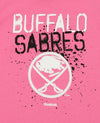 Reebok NHL Youth Girl's Buffalo Sabres Graffiti Tee, Pink
