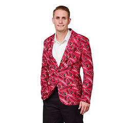 Forever Collectables NFL Men's Arizona Cardinals Ugly Business Jacket, Red
