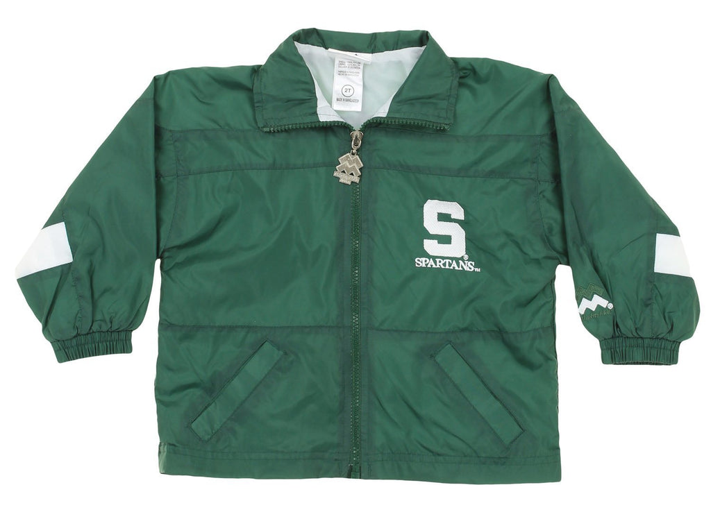 21d8a4030223b NCAA Toddlers Michigan State Spartans Jacket & Pants Wind Suit Set, Green