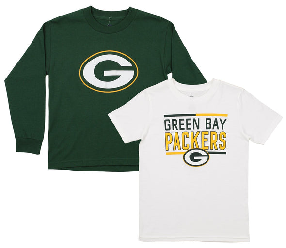 Outerstuff NFL Youth Green Bay Packers Tee Shirt Combo