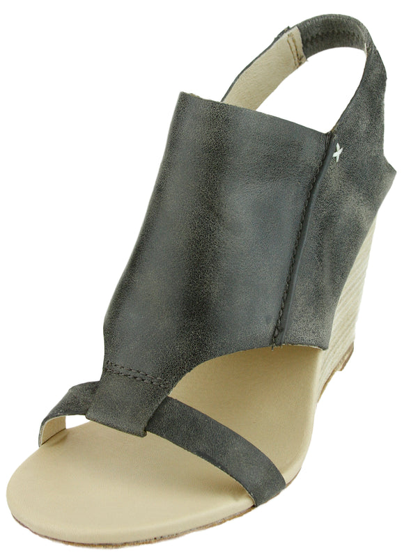 Koolaburra Women's Perez Distressed Leather Wedge Heel Sandals, 3 Colors