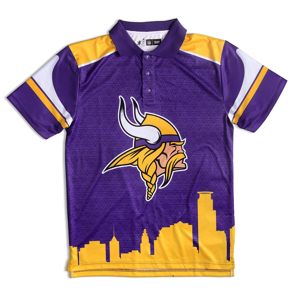 f4472ef04 Forever Collectibles NFL Men s Minnesota Vikings Short Sleeve Thematic Polo  Shirt