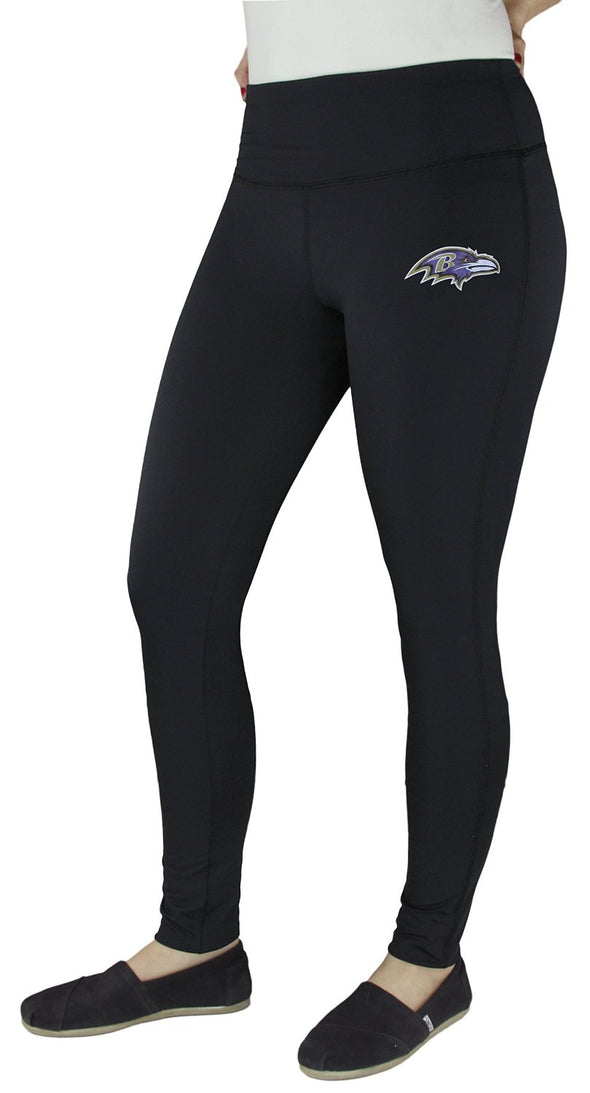 NFL Football Juniors Women's Baltimore Ravens Unbreakable Tight Leggings, Black