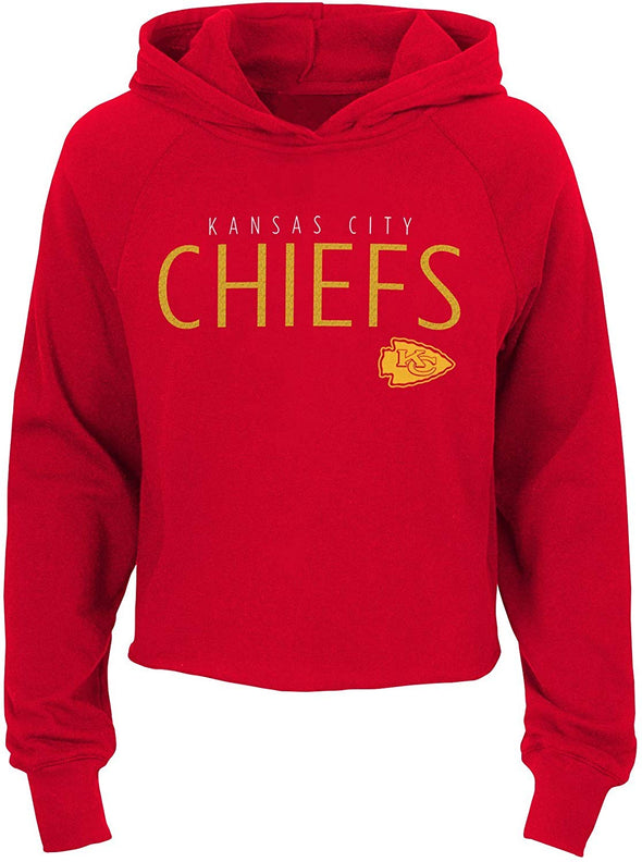 Outerstuff NFL Football Girls Kansas City Chiefs Iced Out Long Sleeve Hoodie