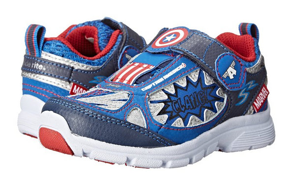 Stride Rite Toddlers Avengers Captain America Light-up Athletic Shoe