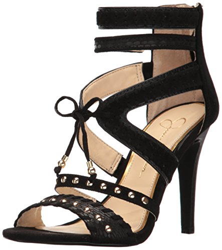 Jessica Simpson Women's Elishia Dress Strappy High Heel Pump, Black