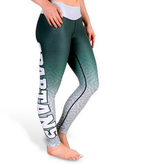 NCAA Women's Michigan State Spartans Gradient Print Leggings, Green