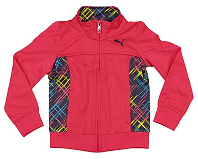 Puma Little Girls Full Zip Track Jacket, Melon Blast