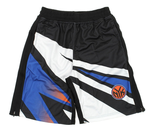 Zipway NBA Men's New York Knicks MotoCross Athletic Shorts, Black
