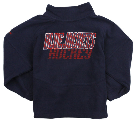 Reebok NHL Little Kids Columbus Blue Jackets The Flux 1/4 Zip Pullover Fleece Sweater