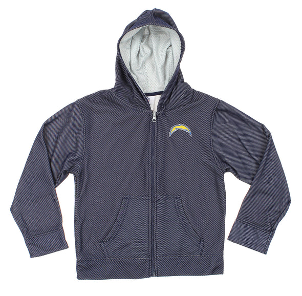OuterStuff Los Angeles Kids & Youth NFL Los Angeles Chargers Zip Up Hooded Sweatshirt