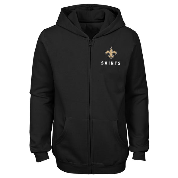 Outerstuff NFL Youth Girls New Orleans Saints Status Full Zip Hoodie