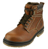 NFL Men's St. Louis Rams Rounded Steel Toe Lace Up Leather Work Boots - Brown