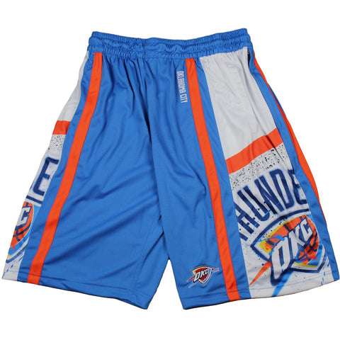 Zipway NBA Basketball Men's Oklahoma City Thunder Painted Shorts, Blue