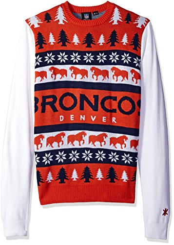 FOCO NFL Men's Denver Broncos One Too Many Ugly Sweater