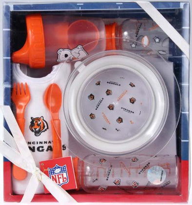 Cincinnati Bengals NFL Football Newborn Baby Necessities Gift Set